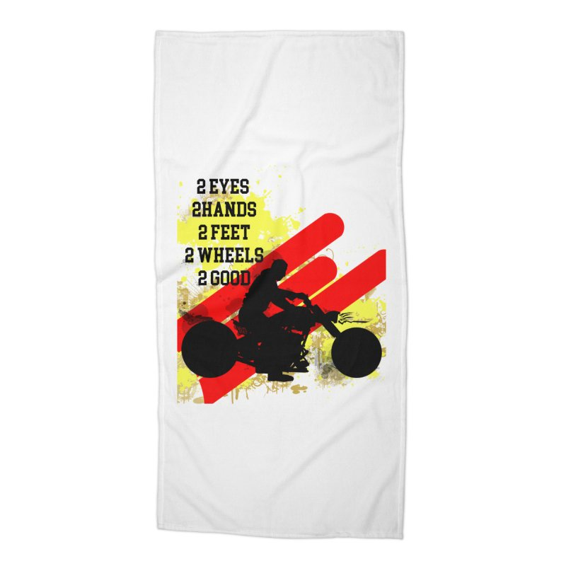 2 EYES 2 HANDS 2 FEET 2 GOOD JERKSTUNTS Accessories Beach Towel by ExploreDaily's Artist Shop