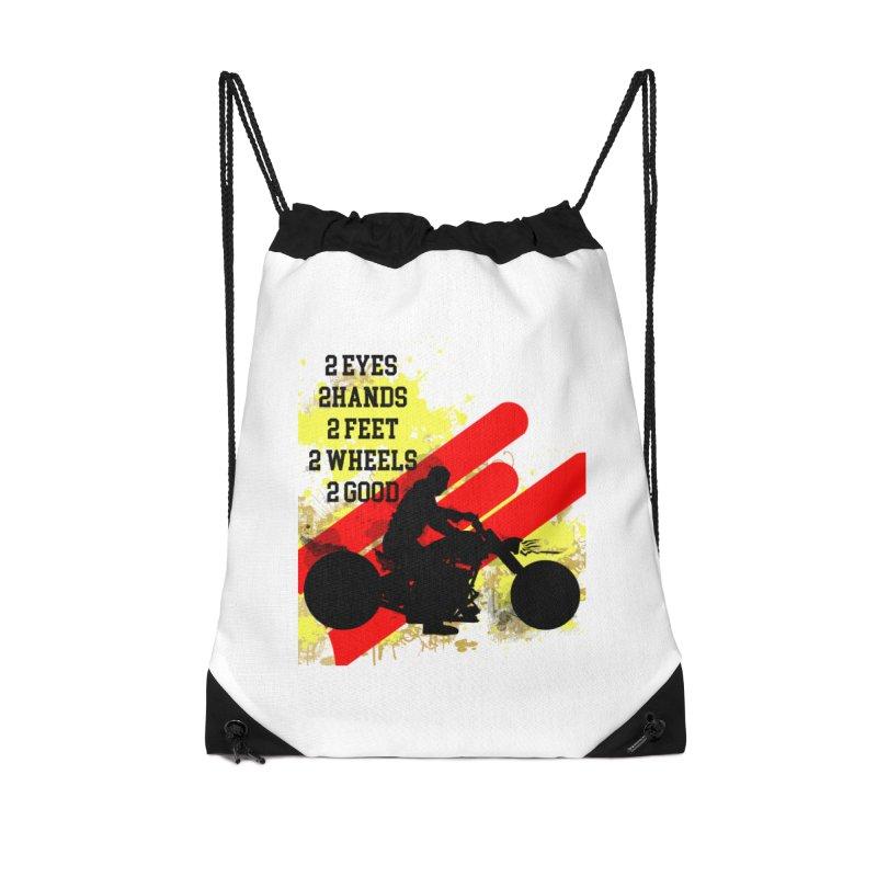 2 EYES 2 HANDS 2 FEET 2 GOOD JERKSTUNTS Accessories Drawstring Bag Bag by ExploreDaily's Artist Shop