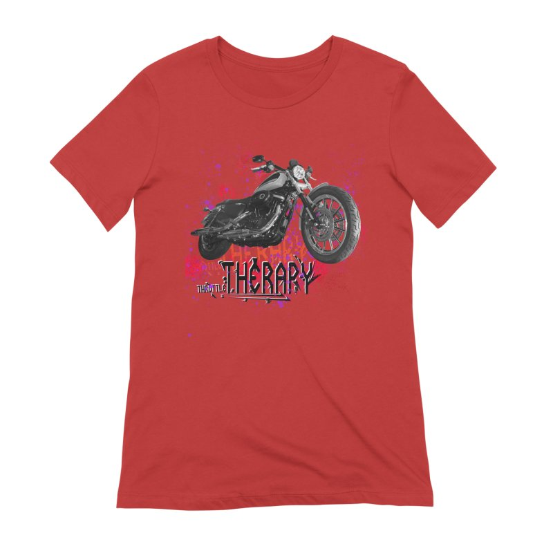 THROTTLE THERAPY RED HOT Women's Extra Soft T-Shirt by ExploreDaily's Artist Shop