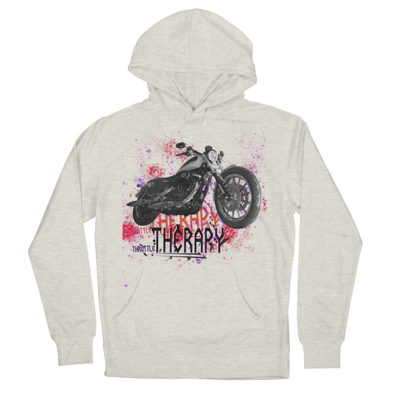 THROTTLE THERAPY RED HOT Women's French Terry Pullover Hoody by ExploreDaily's Artist Shop