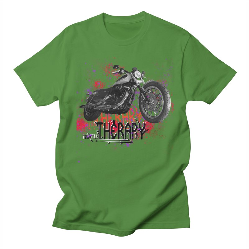 THROTTLE THERAPY RED HOT Men's Regular T-Shirt by ExploreDaily's Artist Shop