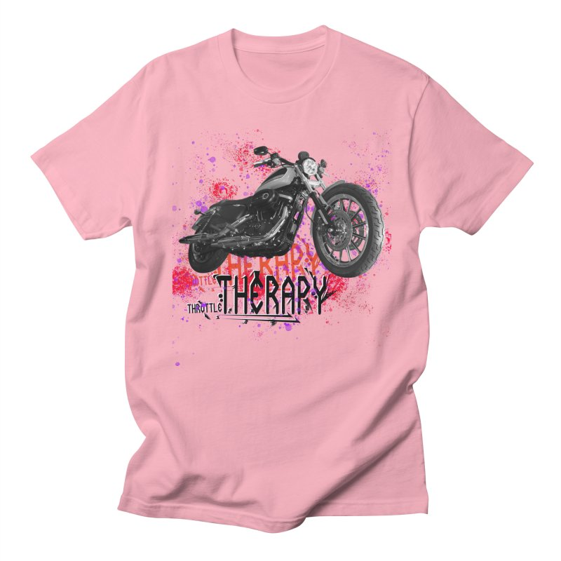 THROTTLE THERAPY RED HOT Women's Regular Unisex T-Shirt by ExploreDaily's Artist Shop