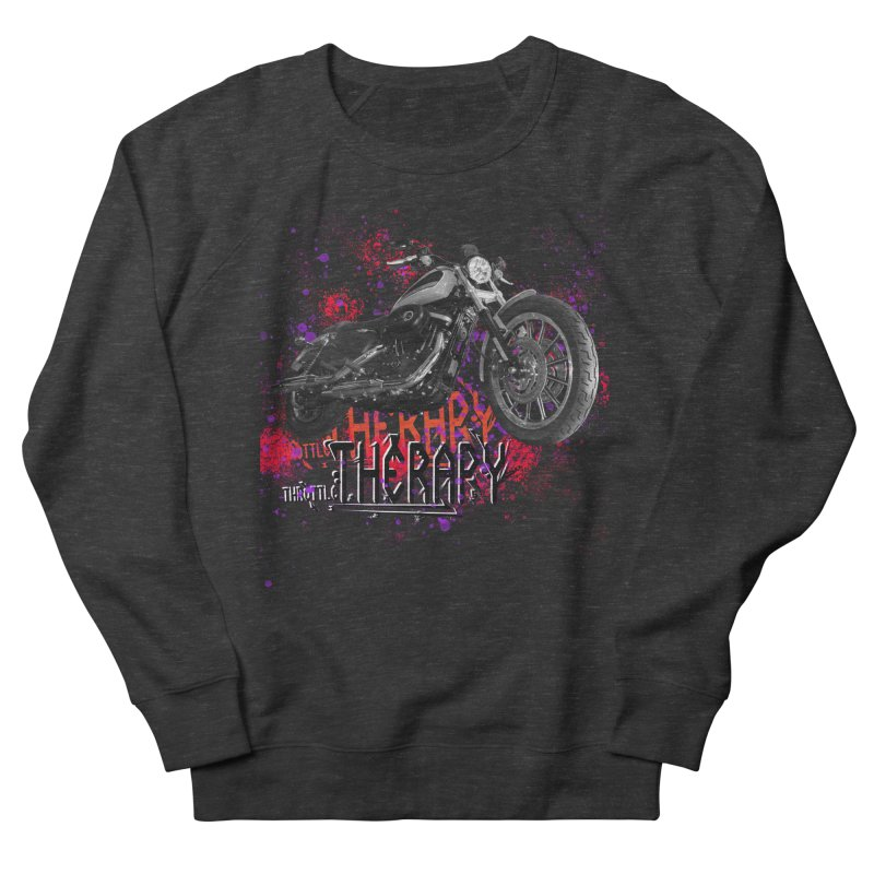 THROTTLE THERAPY RED HOT Women's French Terry Sweatshirt by ExploreDaily's Artist Shop
