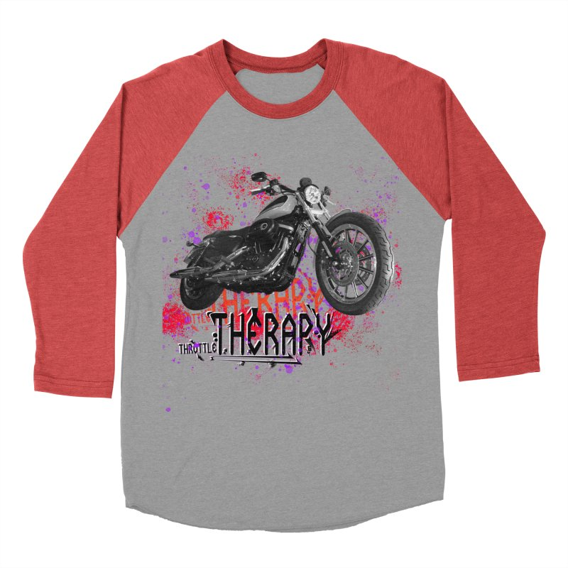 THROTTLE THERAPY RED HOT Women's Baseball Triblend Longsleeve T-Shirt by ExploreDaily's Artist Shop