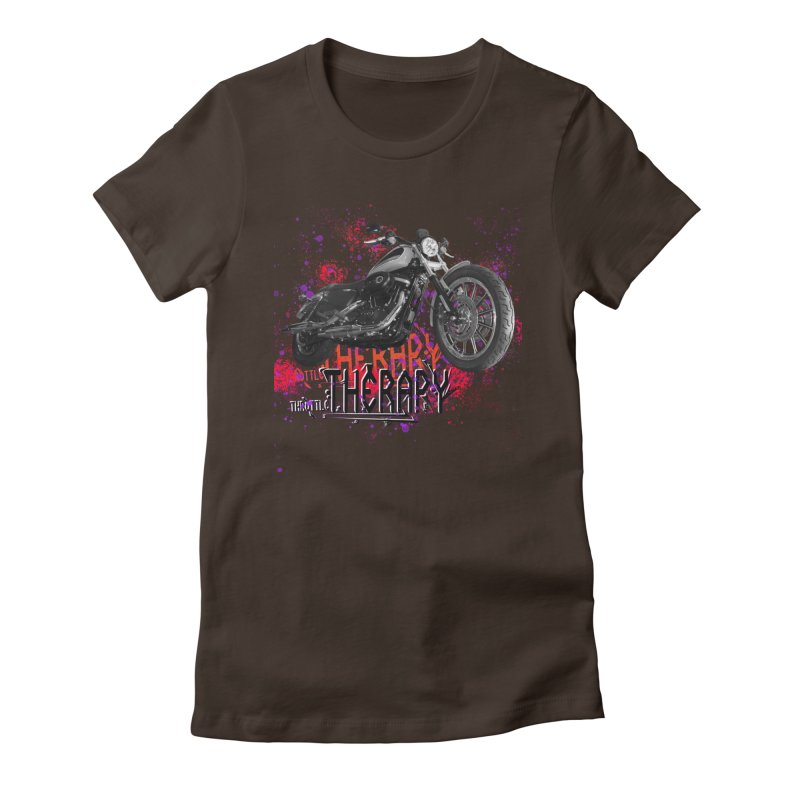 THROTTLE THERAPY RED HOT Women's Fitted T-Shirt by ExploreDaily's Artist Shop