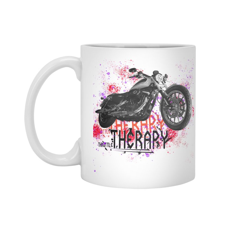THROTTLE THERAPY RED HOT Accessories Standard Mug by ExploreDaily's Artist Shop