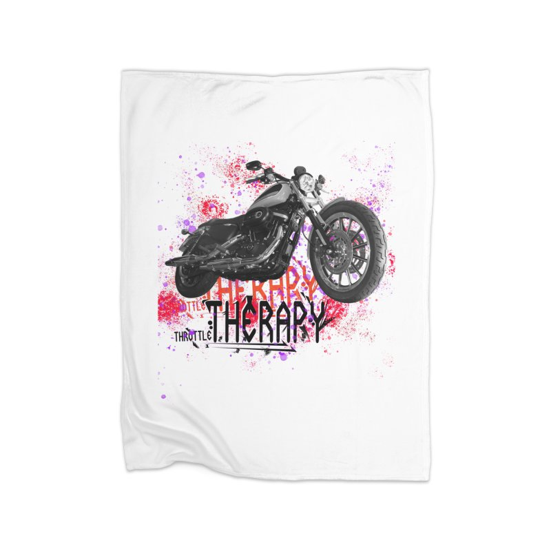 THROTTLE THERAPY RED HOT Home Fleece Blanket Blanket by ExploreDaily's Artist Shop