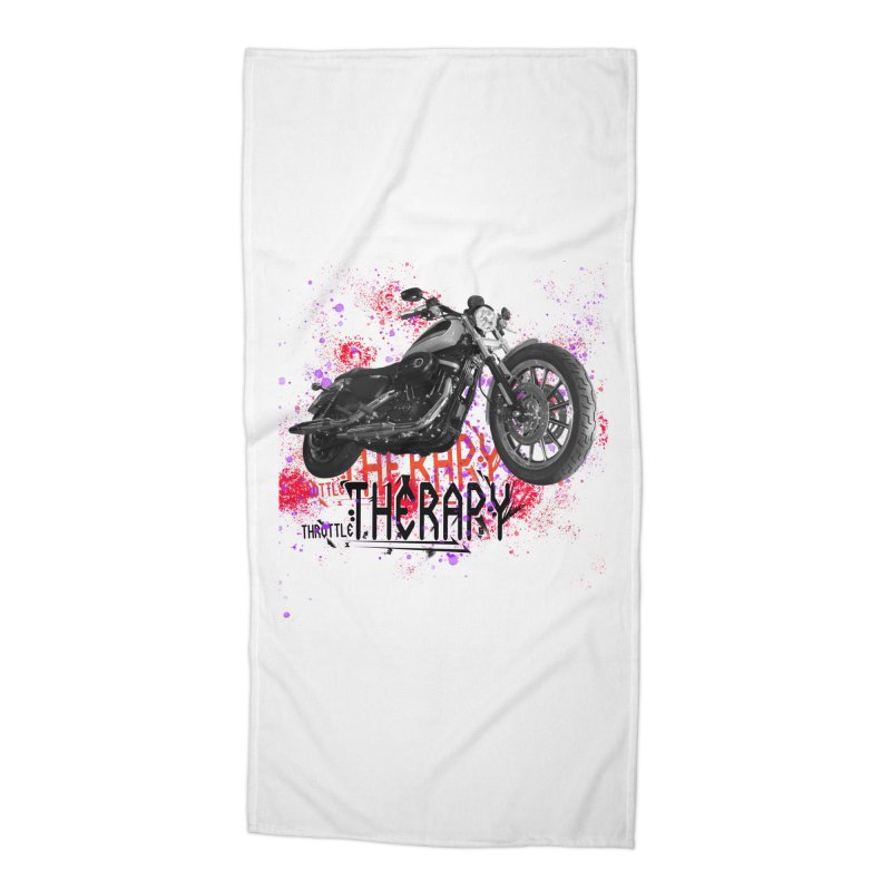 THROTTLE THERAPY RED HOT Accessories Beach Towel by ExploreDaily's Artist Shop