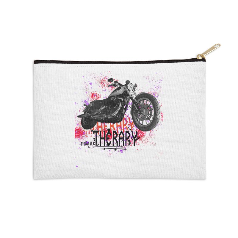 THROTTLE THERAPY RED HOT Accessories Zip Pouch by ExploreDaily's Artist Shop
