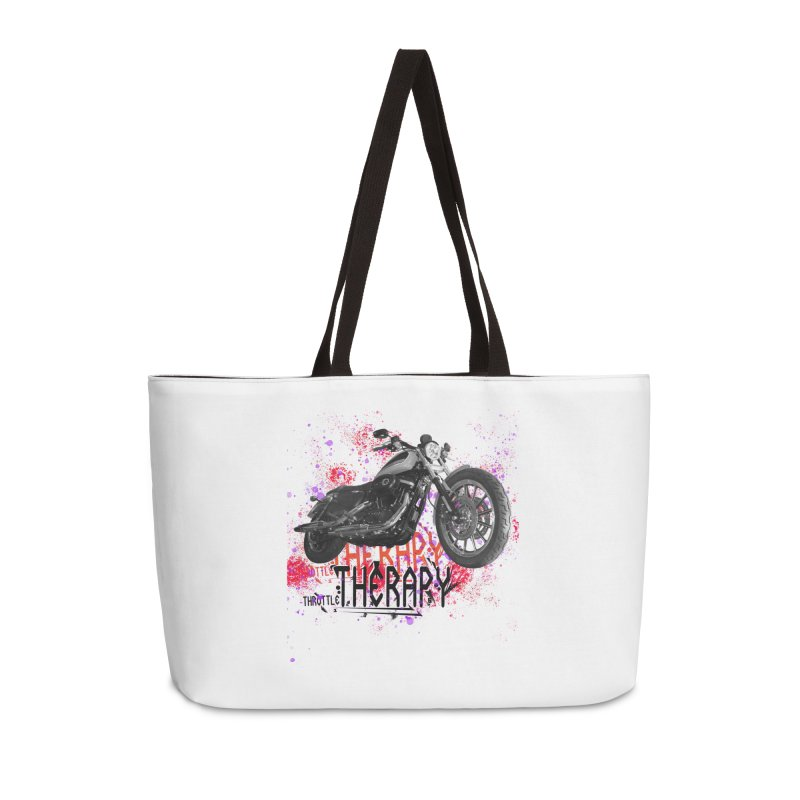 THROTTLE THERAPY RED HOT Accessories Weekender Bag Bag by ExploreDaily's Artist Shop