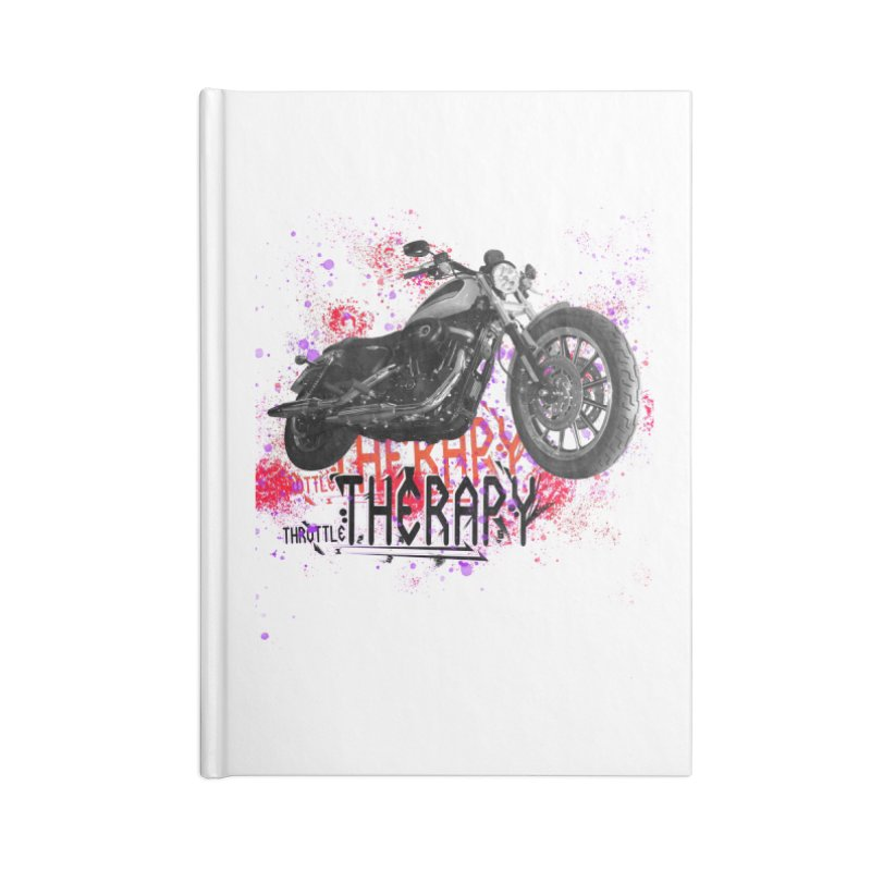 THROTTLE THERAPY RED HOT Accessories Lined Journal Notebook by ExploreDaily's Artist Shop