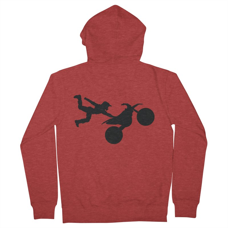 FMX LIFESTYLE JERKSTUNTS Men's French Terry Zip-Up Hoody by ExploreDaily's Artist Shop