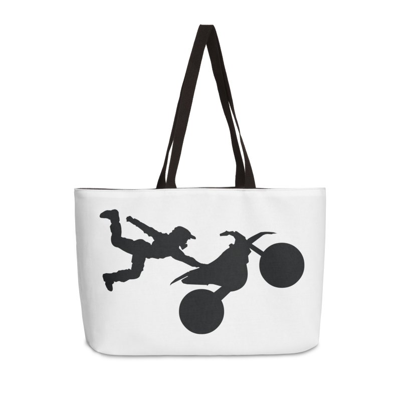 FMX LIFESTYLE JERKSTUNTS Accessories Weekender Bag Bag by ExploreDaily's Artist Shop