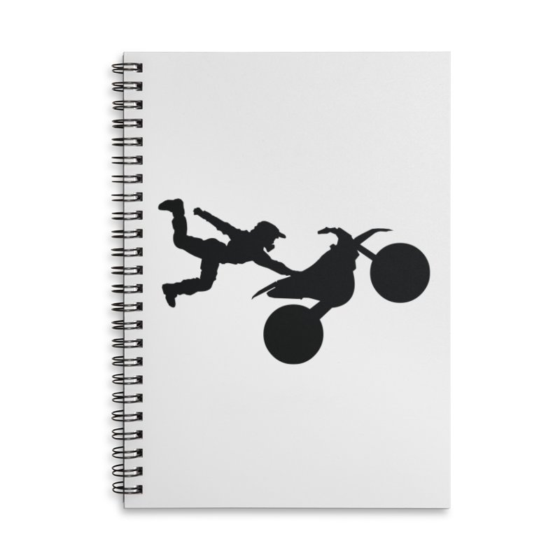 FMX LIFESTYLE JERKSTUNTS Accessories Lined Spiral Notebook by ExploreDaily's Artist Shop