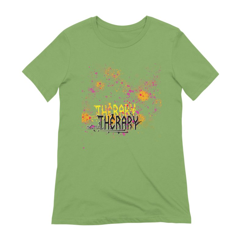 THROTTLE THERAPY SPLATTER ART Women's Extra Soft T-Shirt by ExploreDaily's Artist Shop