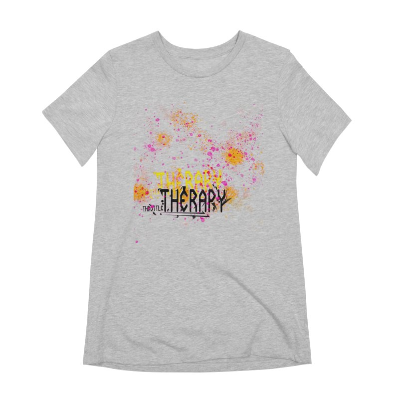 THROTTLE THERAPY SPLATTER ART Women's Extra Soft T-Shirt by ExploreDaily's Artist Shop
