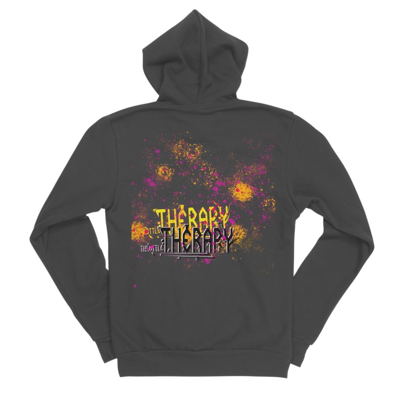 THROTTLE THERAPY SPLATTER ART Men's Sponge Fleece Zip-Up Hoody by ExploreDaily's Artist Shop