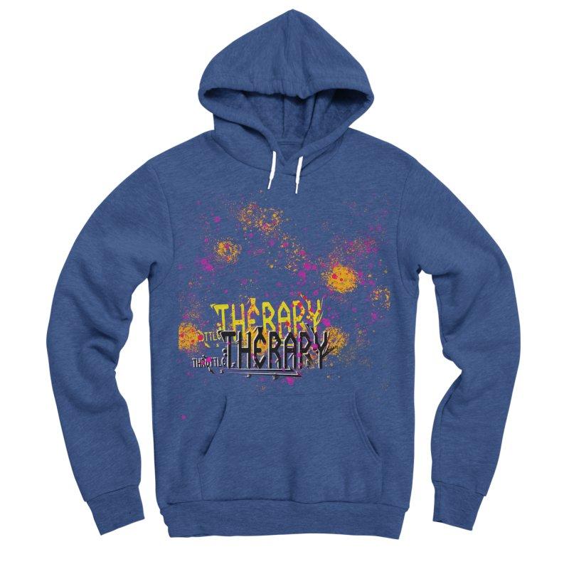 THROTTLE THERAPY SPLATTER ART Men's Sponge Fleece Pullover Hoody by ExploreDaily's Artist Shop