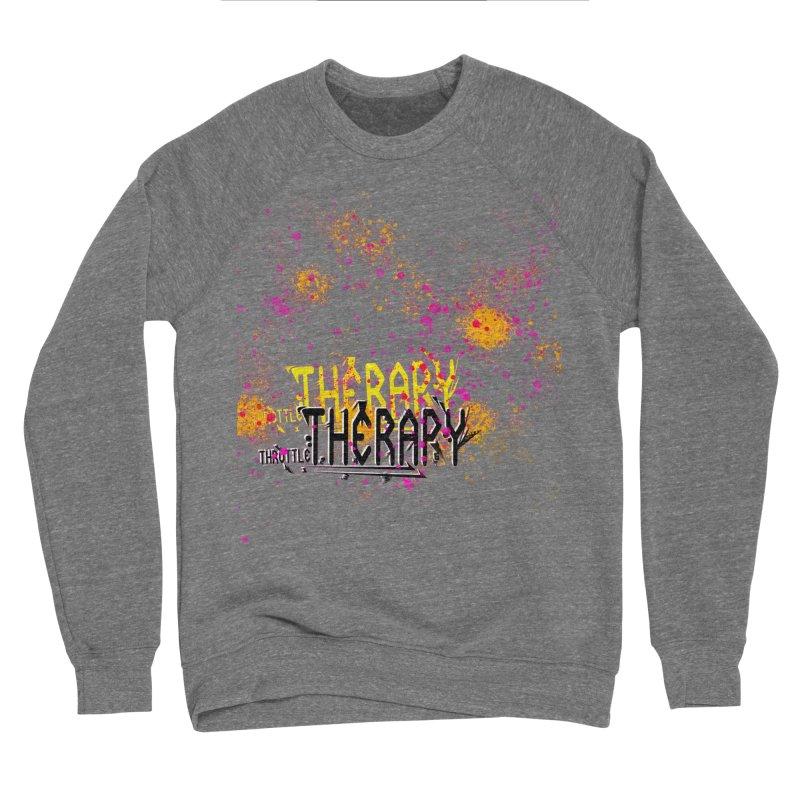 THROTTLE THERAPY SPLATTER ART Men's Sponge Fleece Sweatshirt by ExploreDaily's Artist Shop