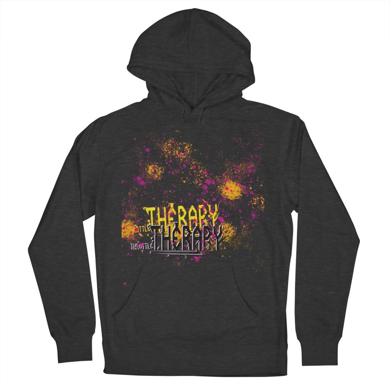 THROTTLE THERAPY SPLATTER ART Women's French Terry Pullover Hoody by ExploreDaily's Artist Shop