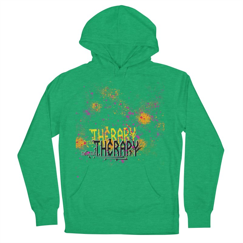 THROTTLE THERAPY SPLATTER ART Men's French Terry Pullover Hoody by ExploreDaily's Artist Shop