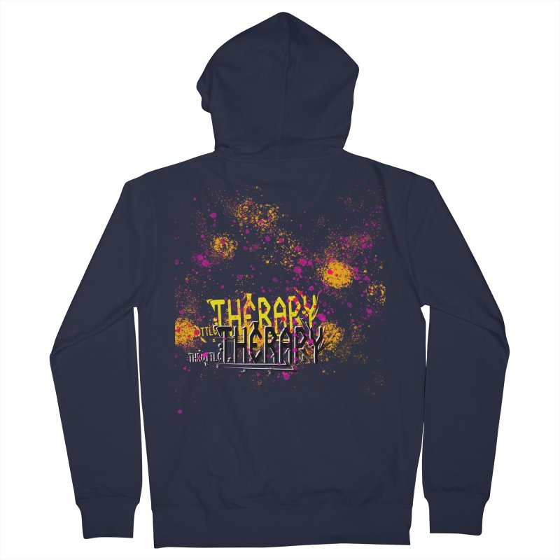 THROTTLE THERAPY SPLATTER ART Men's French Terry Zip-Up Hoody by ExploreDaily's Artist Shop