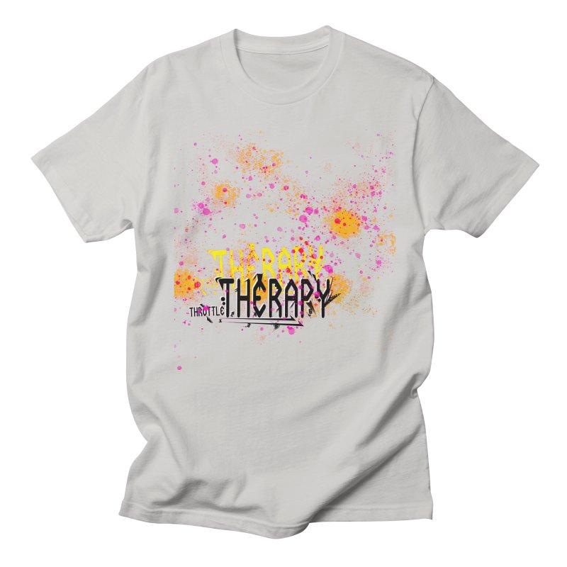 THROTTLE THERAPY SPLATTER ART Men's Regular T-Shirt by ExploreDaily's Artist Shop