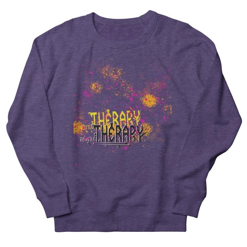 THROTTLE THERAPY SPLATTER ART Men's French Terry Sweatshirt by ExploreDaily's Artist Shop