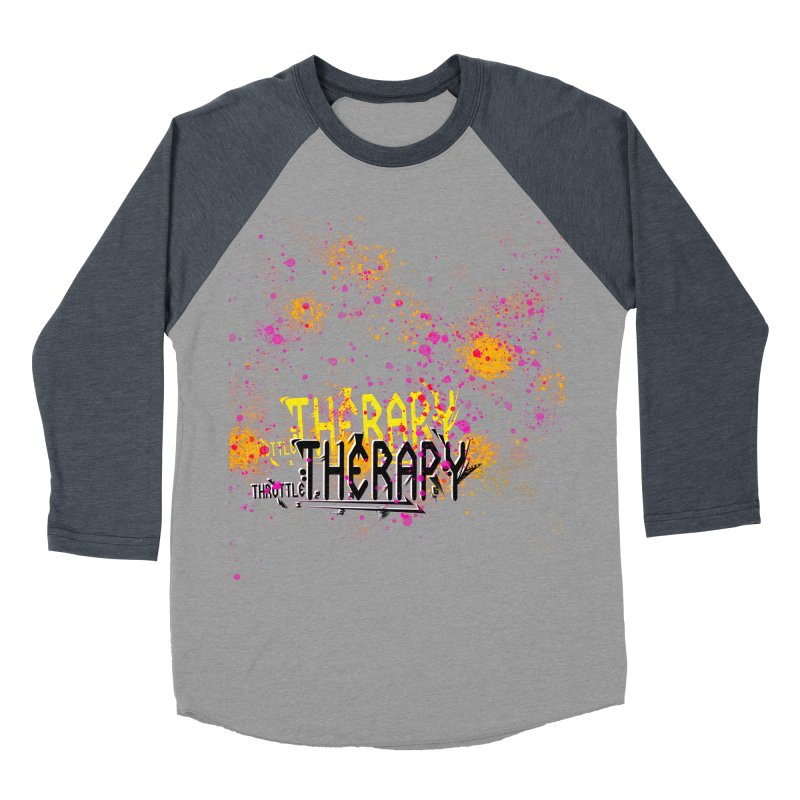 THROTTLE THERAPY SPLATTER ART Women's Baseball Triblend Longsleeve T-Shirt by ExploreDaily's Artist Shop