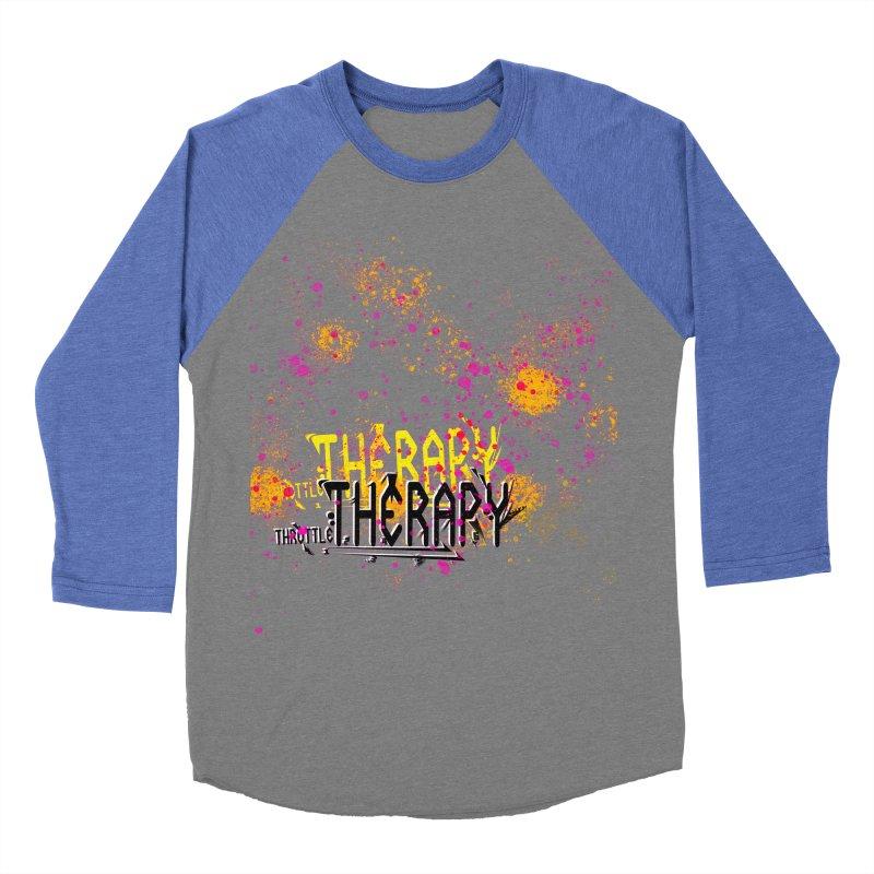 THROTTLE THERAPY SPLATTER ART Men's Baseball Triblend Longsleeve T-Shirt by ExploreDaily's Artist Shop