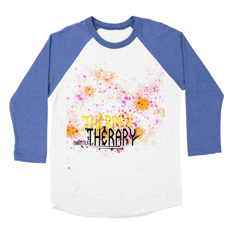 THROTTLE THERAPY SPLATTER ART Men's Baseball Triblend Longsleeve T-Shirt by ExploreDaily's Artist Shop
