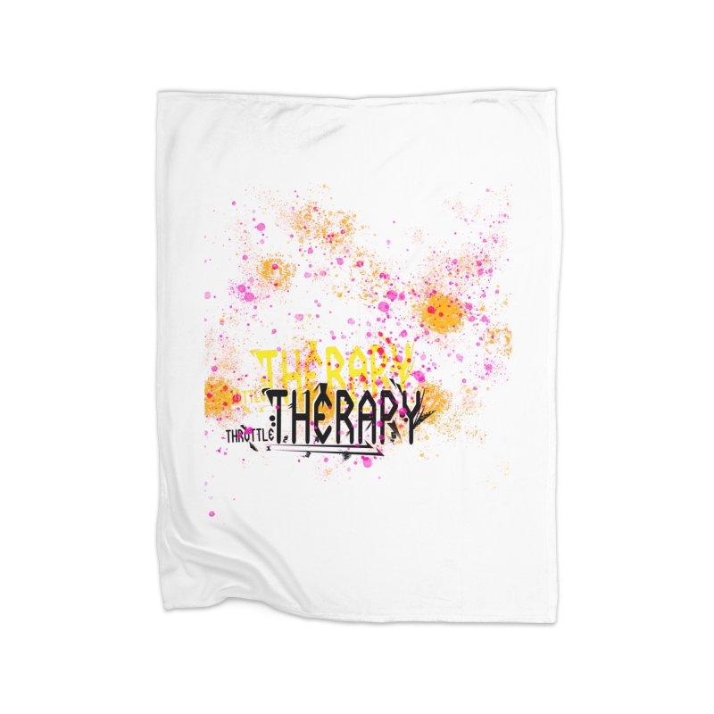 THROTTLE THERAPY SPLATTER ART Home Fleece Blanket Blanket by ExploreDaily's Artist Shop