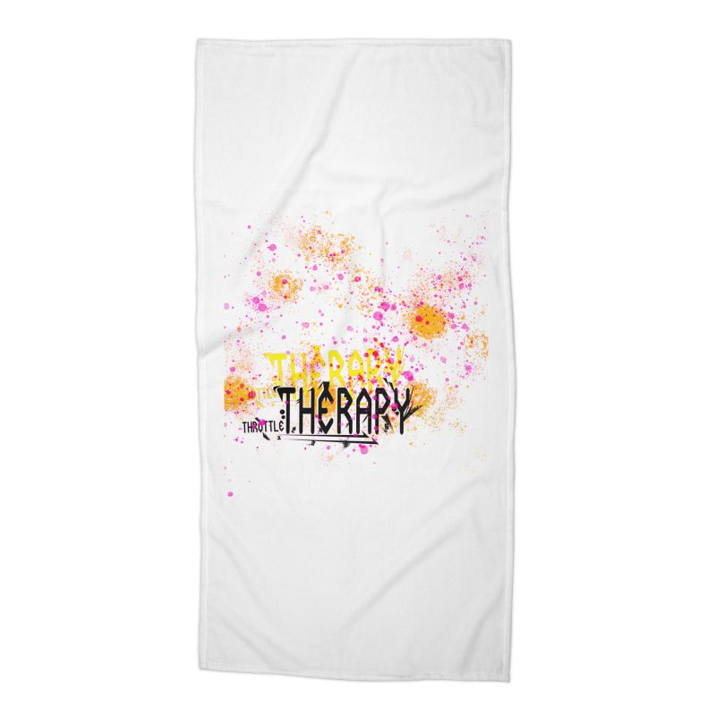 THROTTLE THERAPY SPLATTER ART Accessories Beach Towel by ExploreDaily's Artist Shop