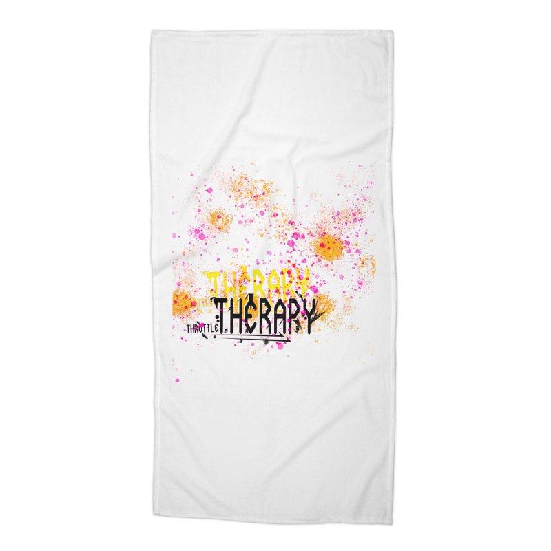 THROTTLE THERAPY SPLATTER ART Accessories Beach Towel by ExploreDaily's Artist Shop
