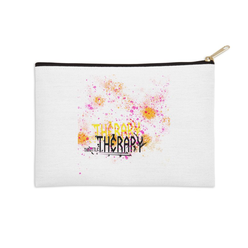 THROTTLE THERAPY SPLATTER ART Accessories Zip Pouch by ExploreDaily's Artist Shop