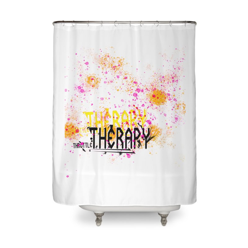 THROTTLE THERAPY SPLATTER ART Home Shower Curtain by ExploreDaily's Artist Shop