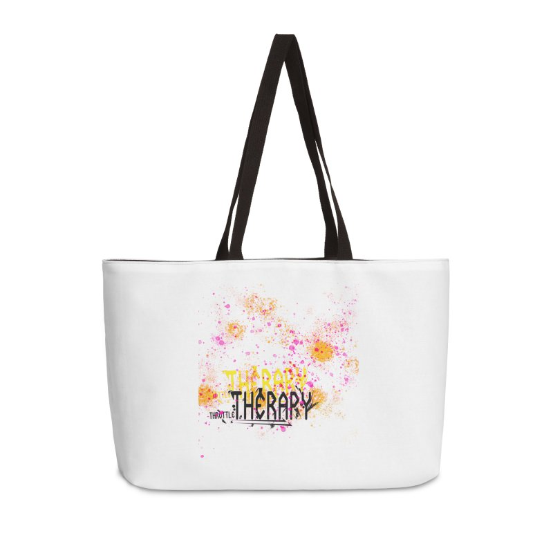 THROTTLE THERAPY SPLATTER ART Accessories Weekender Bag Bag by ExploreDaily's Artist Shop