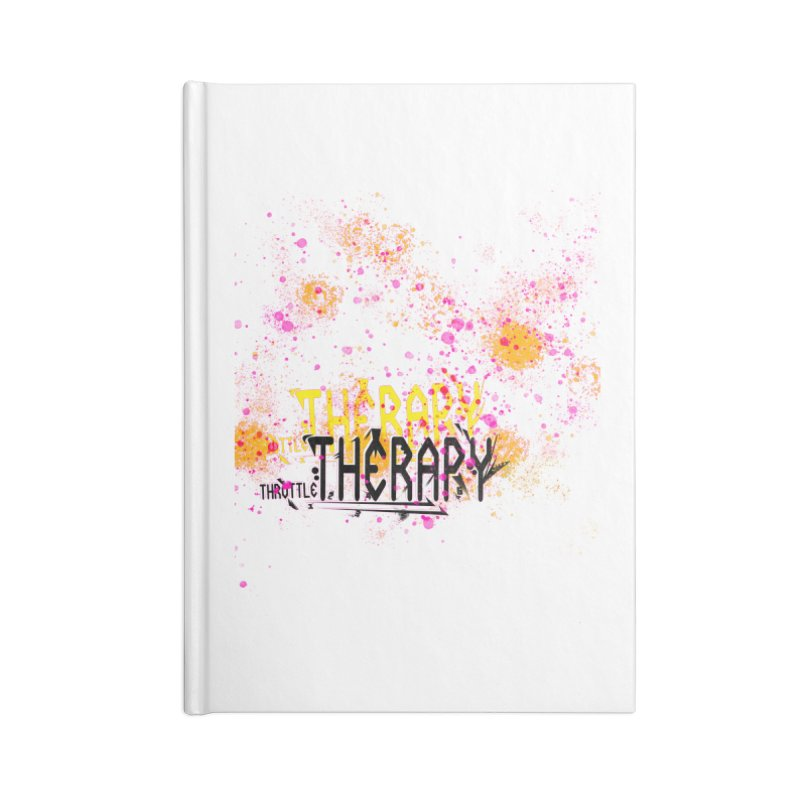 THROTTLE THERAPY SPLATTER ART Accessories Blank Journal Notebook by ExploreDaily's Artist Shop