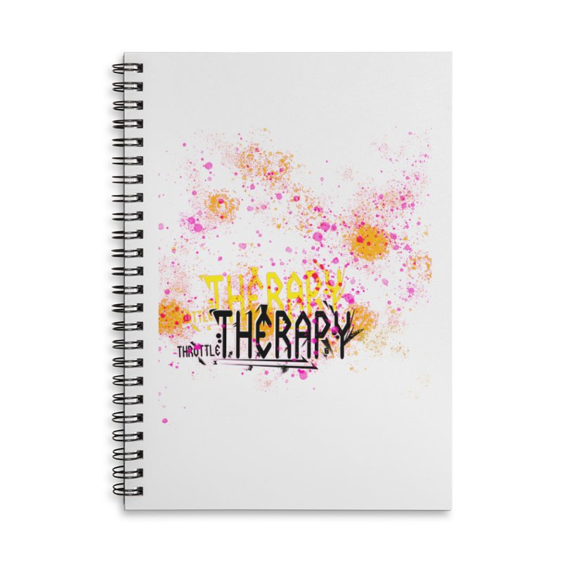 THROTTLE THERAPY SPLATTER ART Accessories Lined Spiral Notebook by ExploreDaily's Artist Shop