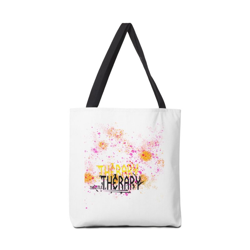 THROTTLE THERAPY SPLATTER ART Accessories Tote Bag Bag by ExploreDaily's Artist Shop