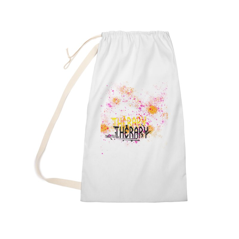 THROTTLE THERAPY SPLATTER ART Accessories Laundry Bag Bag by ExploreDaily's Artist Shop