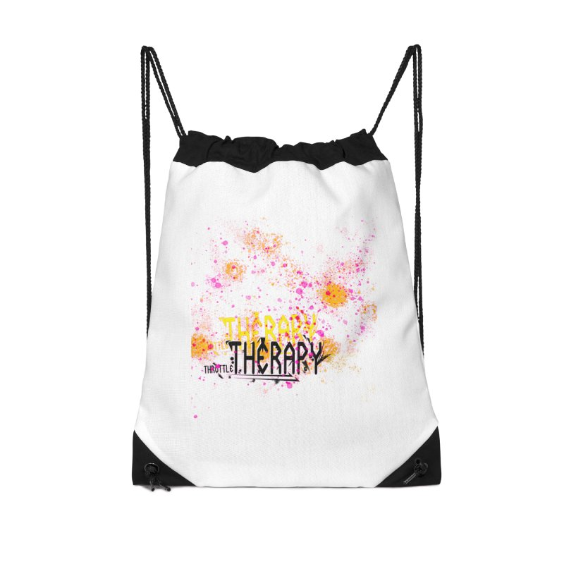 THROTTLE THERAPY SPLATTER ART Accessories Drawstring Bag Bag by ExploreDaily's Artist Shop