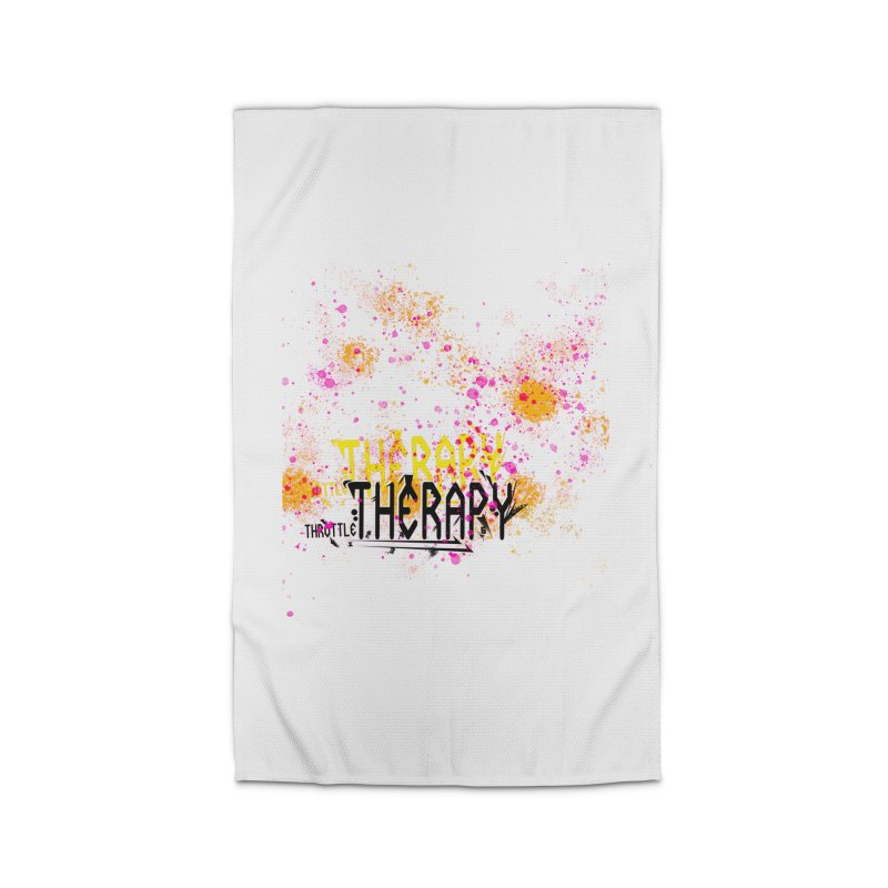 THROTTLE THERAPY SPLATTER ART Home Rug by ExploreDaily's Artist Shop
