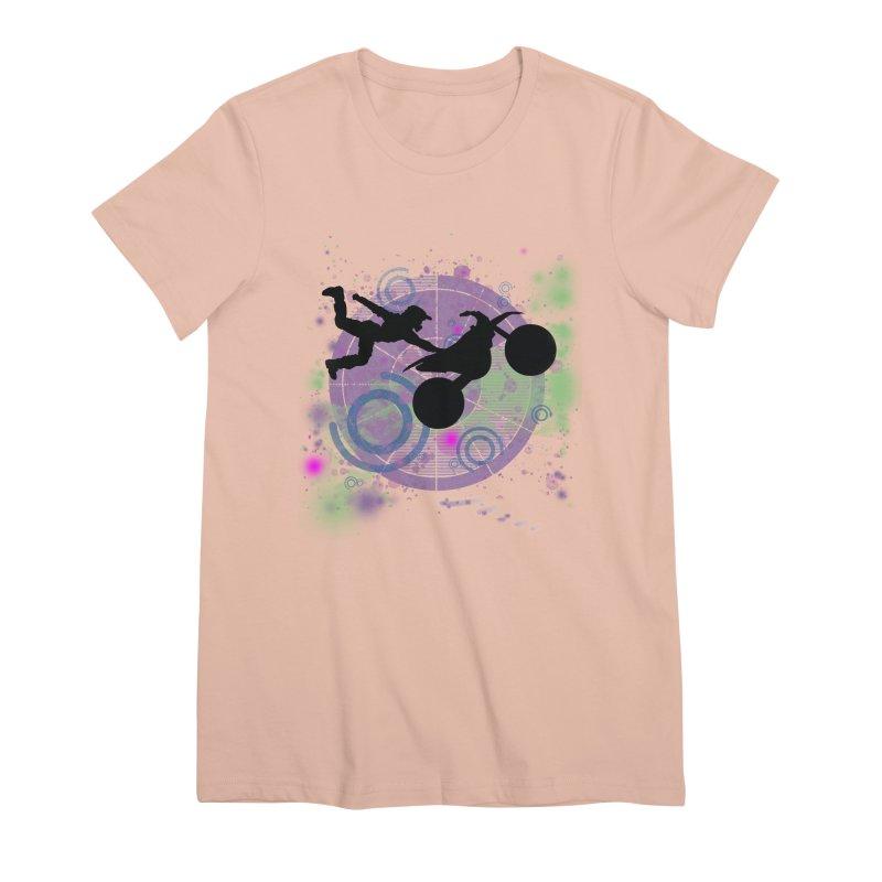 AIR TIME JERKSTUNTS Women's Premium T-Shirt by ExploreDaily's Artist Shop