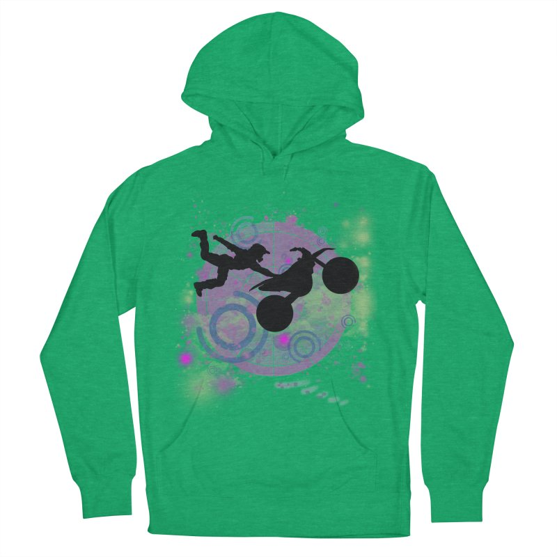 AIR TIME JERKSTUNTS Women's French Terry Pullover Hoody by ExploreDaily's Artist Shop