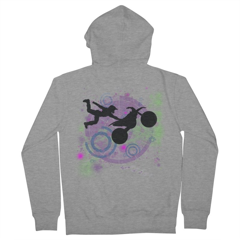 AIR TIME JERKSTUNTS Women's French Terry Zip-Up Hoody by ExploreDaily's Artist Shop