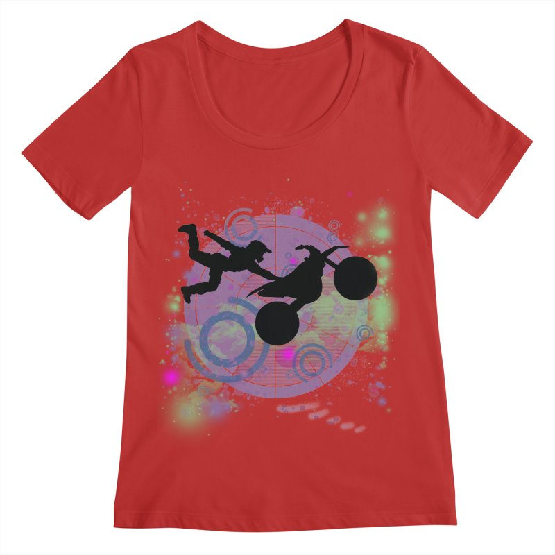 AIR TIME JERKSTUNTS Women's Regular Scoop Neck by ExploreDaily's Artist Shop
