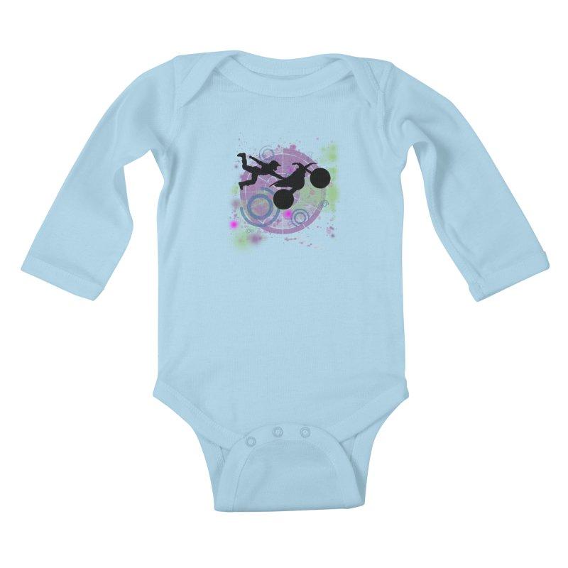 AIR TIME JERKSTUNTS Kids Baby Longsleeve Bodysuit by ExploreDaily's Artist Shop