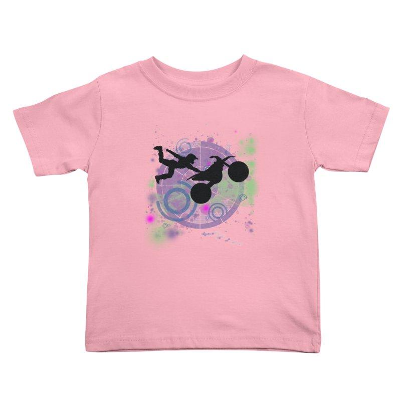 AIR TIME JERKSTUNTS Kids Toddler T-Shirt by ExploreDaily's Artist Shop