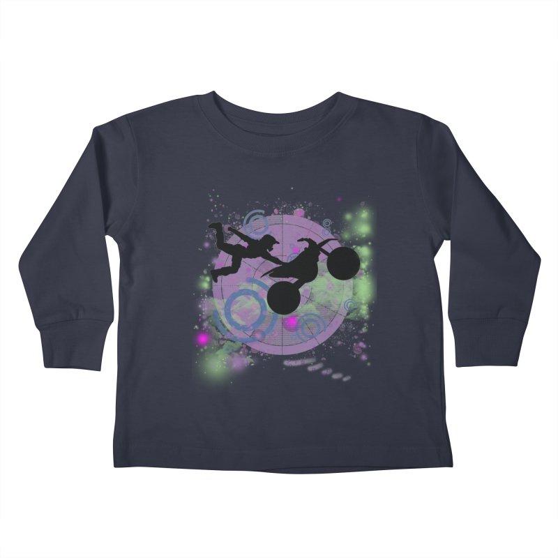 AIR TIME JERKSTUNTS Kids Toddler Longsleeve T-Shirt by ExploreDaily's Artist Shop